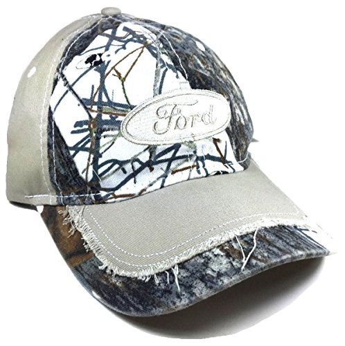 Ford Traction White Mossy Oak Snow Camo Hat (Ford Hoody compare prices)