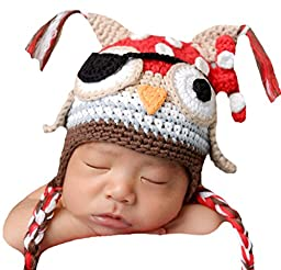 Melondipity\'s Baby Owl Pirate Hat for Baby and Toddler Boys (12-18 months)