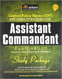 Central Police Forces Assistant Commandant Examination - Study Package 1st Edition price comparison at Flipkart, Amazon, Crossword, Uread, Bookadda, Landmark, Homeshop18