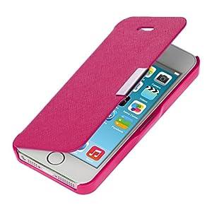 kwmobile® Praktische und schicke FLIP COVER Schutzhülle mit Magnetverschluss für Apple iPhone 5 / 5S in Pink Silber