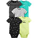 Carter's Baby Boys Multi-Pack Bodysuits, Assorted, 6 Months
