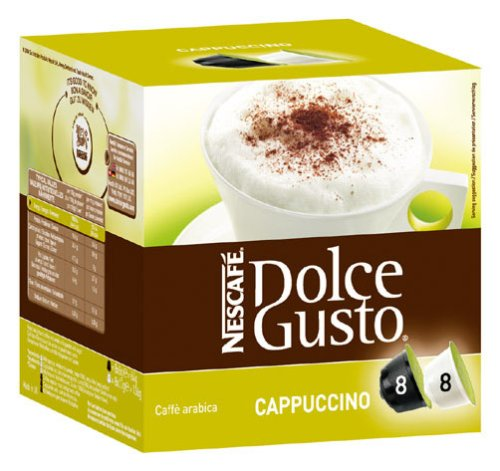 Shop for Nestle 'cappuccino' for Dolce Gusto coffee capsules (16 Capsules) from Nescafé