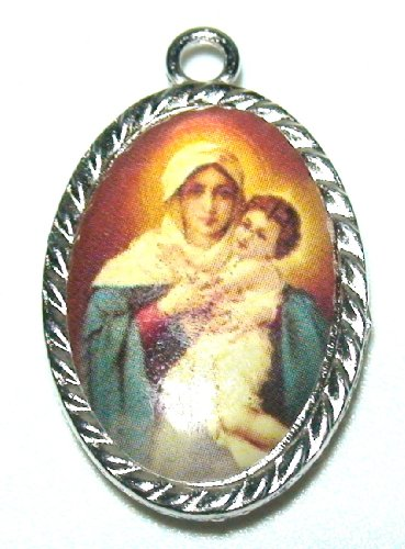 Christian Saint Medal Enamel Pendant Amulets and Talismans Jewelry Collection