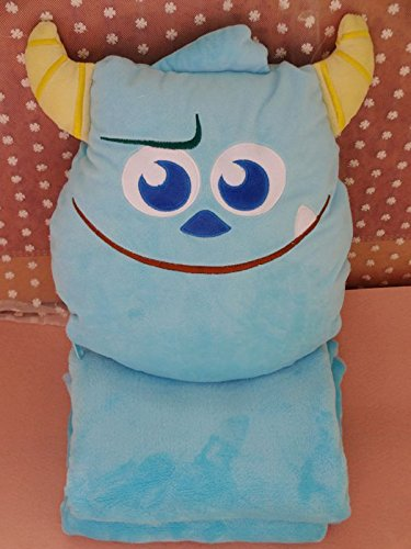 Monster Inc Sulley Cute Cushion Plush Cover Pillow Blanket Air conditioning quilt Nap Folding (Monster Inc Quilt compare prices)