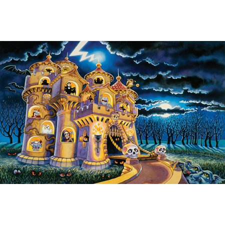 Cheap SunsOut Sally Smith Haunted Castle 100pc Jigsaw Puzzle (B001YK1PD6)