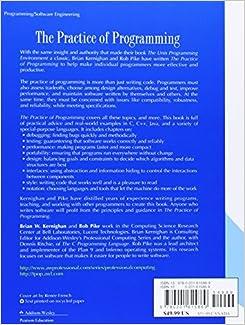 the practice of programming brian w. kernighan pdf