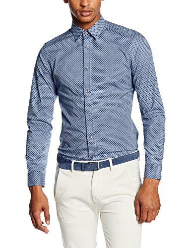 DIESEL - S-LEPPARD, Camicia formale Uomo, Multicolore (MULTICOLOR 8BA), M (Taglia Produttore: M)