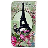 myLife White and Pink {Vintage Eiffel Tower and FlowersDesign Faux Leather (Card, Cash and ID Holder + Magnetic... by myLife Brand Products