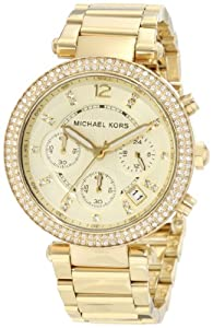 michael kors damen armbanduhr parker chronograph quarz. Black Bedroom Furniture Sets. Home Design Ideas