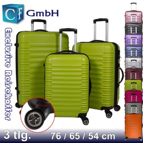 Grün 3 tlg. LG2088 Reisekofferset Koffer Kofferset