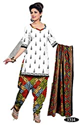 Riddhi Dresses Women's Cotton Unstitched Dress Material (Riddhi Dresses 81_Multi Coloured_Free Size)