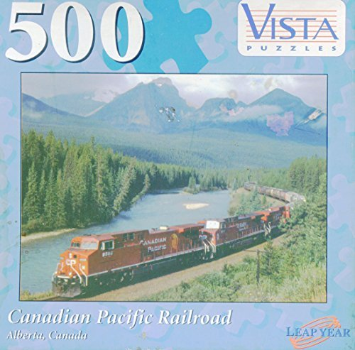 Vista 500 Piece Puzzle 'Canadian Pacific Railroad' Alberta, Canada