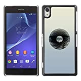 Pulsar Snap on Series Plastic Back Case Shell Skin Cover for SONY Xperia Z2 D6502 D6503 D6543 L50W L50t L50u Vinyl Record Music Minimalist Artistic Music
