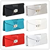 CLEARANCE Gold Buckle Ladies Night Party Evening Clutch bag Wedding 8746R