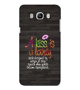 EPICCASE Kiss is a trick Mobile Back Case Cover For Samsung J7 2016 (Designer Case)