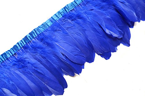 Buy Discount Sowder Royal Blue Duck Goose Feather Trim Fringe 2 Yards