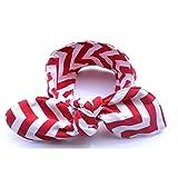 Banda ancha en elastano, diseño en Zig Zag, color rojo