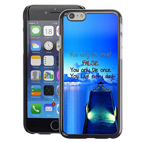 A-type Colorful Printed Hard Protective Back Case Cover Shell Skin for Apple (4.7 inches!!!) iPhone 6 / 6S ( Dock False Blue Live Die Ship Sea Ocean)
