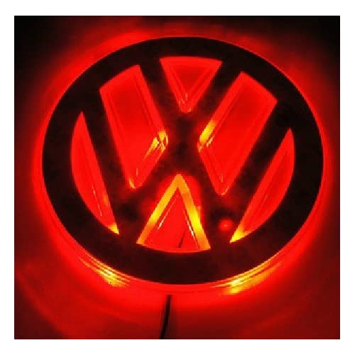 Auto led red and blue car logo light for Volkswagen Sagitar