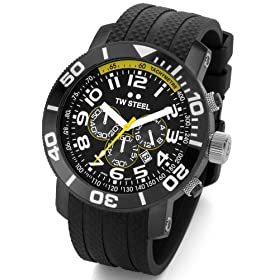 TW STEEL Chrono Black-Yellow Dial Rubber Band TWS-74