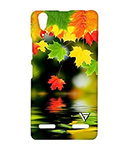 Vogueshell Colorfull Leaf Printed Symmetry PRO Series Hard Back Case for Lenovo A6000