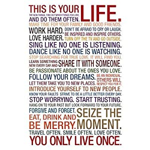 This Is Your Life Motivational Quote Poster  33x48 cm