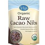 Viva Labs - The BEST Tasting Organic Raw Cacao Nibs, 1 lb Bag