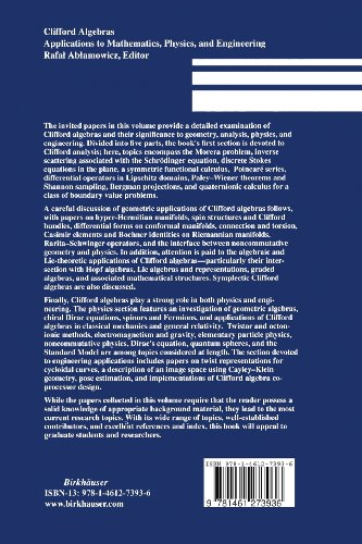 Clifford Algebras: Applications to Mathematics, Physics, and Engineering (Progress in Mathematical Physics)