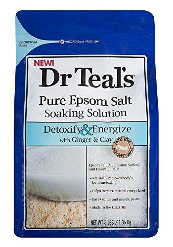 Dr. Teal's Salt, Detox, 3 Pound (Epsom Salts compare prices)