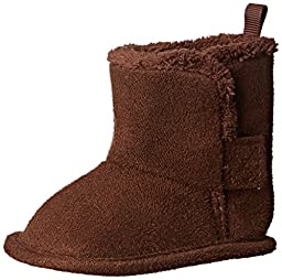 Gerber Cozy Faux Suede Winter Boot (Infant), Brown, 2 M US Infant