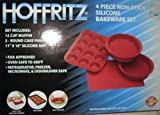 Hoffritz 4 Piece Nonstick Silicone Bakeware Set RED (SYLES VARY)