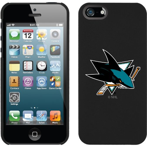 Best Price San Jose Sharks« - Primary Logo design on a Black iPhone 5s / 5 Thinshield Snap-On Case by Coveroo