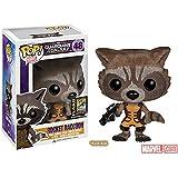 SDCC 2014 Funko Pop Guardians of The Galaxy #48 Rocket Raccoon (Flocked)