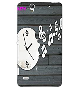 SONY XPERIA C4 CLOCK Back Cover by PRINTSWAG