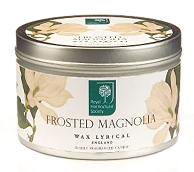 Wax Lyrical Rhs Frosted Magnolia Candle Tin by Wax Lyrical