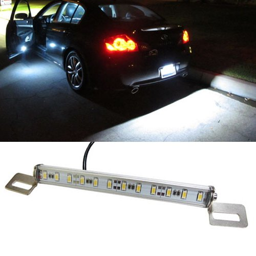 Ijdmtoy Angle Tilt'Able 12-Smd Bolt-On Led Lamps For License Plate Lights Or Backup Reverse Lights, Xenon White