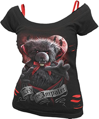 Spiral -  T-shirt - Maniche corte - Donna Black & Red Small