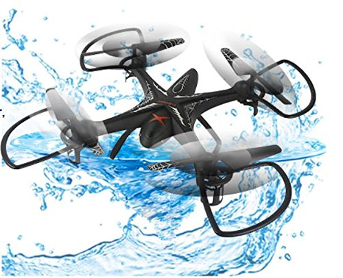 Maxbo 2.4Ghz 4CH Waterproof Remote Control Quadcopter UFO UAV Drone 3D Flip (Without Camera) (Black)