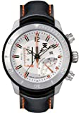 Tx T3c307 Gents Chronograph Black Leather Strap Watch