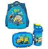 Minions 3tlg. Set Rucksack mit Brotdose und Trinkflasche z.B. für