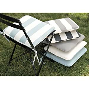 Amazon Café Chair Outdoor Cushion Seneca Stripe