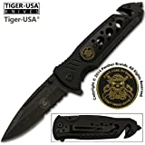 Don't Tread On Me Black Blade ASSISTED OPENING POCKET KNIFE Don't take My Guns