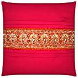 Saumya's Home Silk Cushion Cover - Multi Colour, 12 X 12 Inch