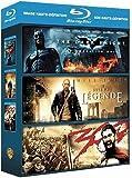 Image de Coffret action : 300 - Dark Knight - Je suis une lgende [Blu-ray]