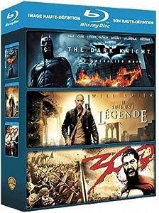 Coffret action : 300 - Dark Knight - Je suis une lgende [Blu-ray]