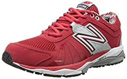 New Balance Men\'s T1000 Turf Low Baseball Shoe,Red/Silver,12 2E US