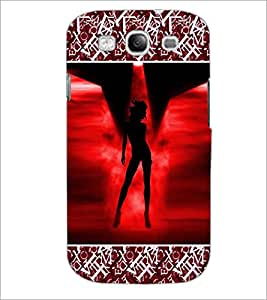 PrintDhaba Stylish Girl D-4690 Back Case Cover for SAMSUNG GALAXY S3 (Multi-Coloured)
