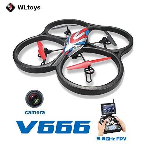 WLtoys V666 5.8G FPV 6 Axis RC Quadcopter With HD Camera Monitor RTF
