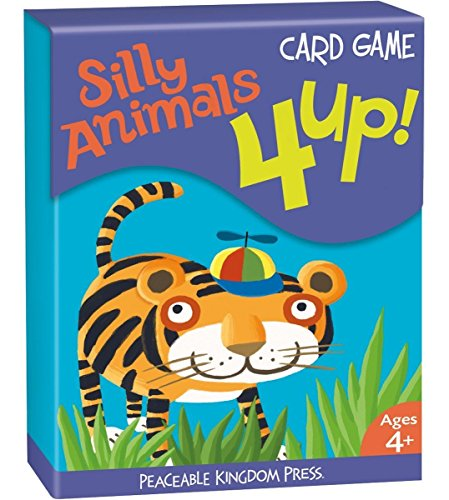 Peaceable Kingdom 4 Up! Silly Animals Card Game - 1
