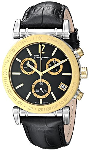 Salvatore-Ferragamo-Mens-FP1900014-Salvatore-Analog-Display-Quartz-Black-Watch
